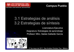 análisis y la síntesis - AprenderaAprenderCenturiaXXI