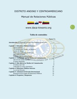 Manual de Relaciones Públicas DACA 2012