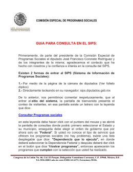 GUíA PARA CONSULTA EN EL SIPS: