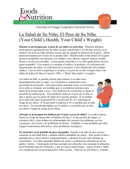 La Salud de Su Niño, El Peso de Su Niño (Your Child`s Health, Your