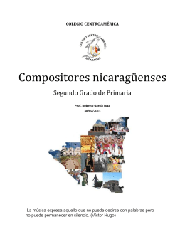Folleto Compositores Nicas
