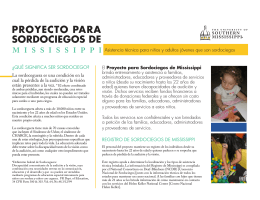 proyecto para sordociegos de - The University of Southern Mississippi