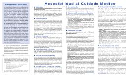 Accesibilidad al Cuidado Médico