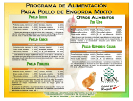 FOLLETO POLLOS Y GALLINAS - Productores Agropecuarios