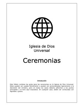 Ceremonias Ceremonias