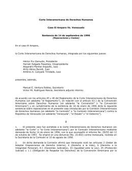 Caso El Amparo Vs. Venezuela - Corte Interamericana de Derechos