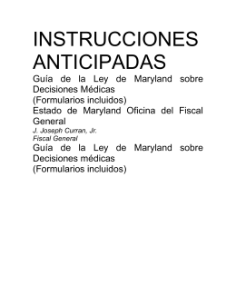INSTRUCCIONES ANTICIPADAS - Atlantic General Hospital