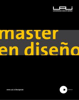 Master en Diseño de la UAI - Universidad Adolfo Ibáñez