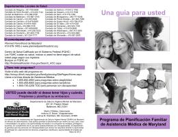 Programa de Planificación Familiar de Asistencia Médica de Maryland