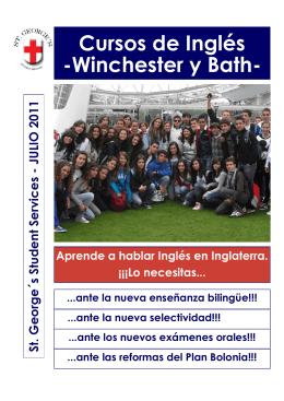 Winchester y Bath - St George, cursos de ingles en verano
