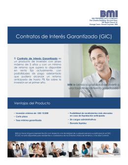 Contratos de Interés Garantizado (GIC)