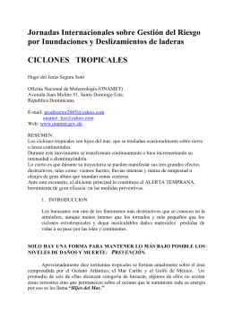 Ciclone tropicales