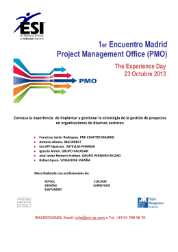 1er Encuentro Madrid Project Management Office (PMO)