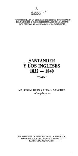 SANTANDER Y LOS INGLESES 1832 - 1840