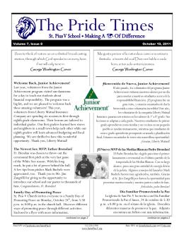 The Pride Times - St. Pius V School