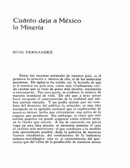 Cuánto deja a México la Minería