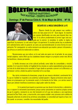 Boletín Unidad Pastoral nº 18 18-5