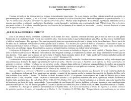 1 EL BAUTISMO DEL ESPÍRITU SANTO Apóstol Augusto Pérez