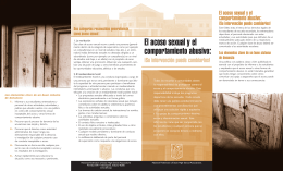Sexual Harassment and Hazing Brochure Spanish Version 4.qxd