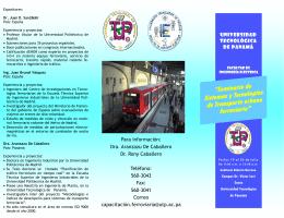 """""""Seminario de Sistemas y Tecnologías de Transporte urbano"""