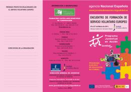 Folleto informativo - Programa Juventud en Acción