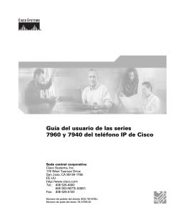 Guía del usuario de las series 7960 y 7940 del teléfono IP de Cisco