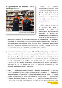 """""""supermercado"""" y """"conciencia social"""""""