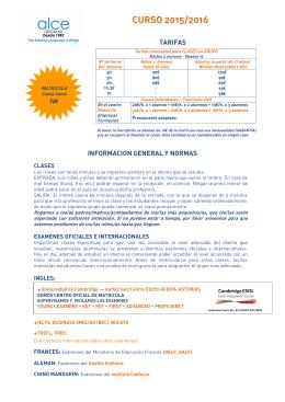 Información y Tarifas – PDF