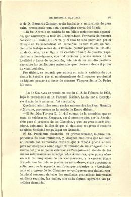 to de D. Bernardo Zapater, socio fundador y naturalista de gran valía