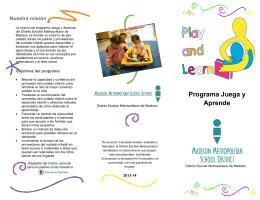 Programa Juega y Aprende