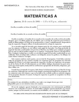Math A exam jan09_modified_ES:Layout 1