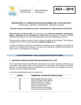 AD3 – 2015 - Oficina de Registro e Información