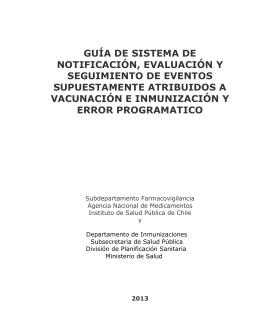guía de sistema de notificación, evaluación y seguimiento