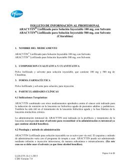 FOLLETO DE INFORMACIÓN AL PROFESIONAL ARACYTIN