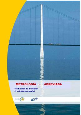 METROLOGA ABREVIADA - Centro Español de Metrología