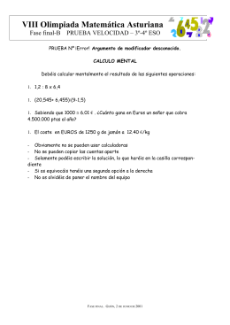 VIII Olimpiada Matemática Asturiana