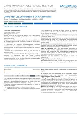 Key Investor Information: LU0438016270