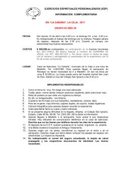 EJERCICIOS ESPIRITUALES PERSONALIZADOS (EEP