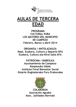 FOLLETO AULAS CAMPEZO 2014