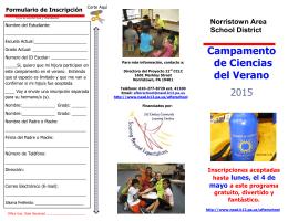 Campamento de Ciencias del Verano 2015
