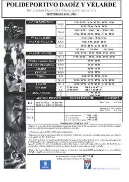 polideportivo daoíz y velarde - Federacion Madrileña de Karate