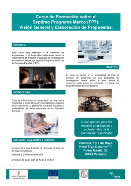Curso de Formación sobre el Séptimo Programa Marco (FP7