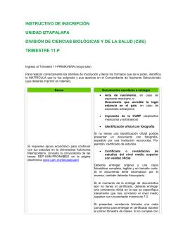 trimestre 11-p - Universidad Autónoma Metropolitana