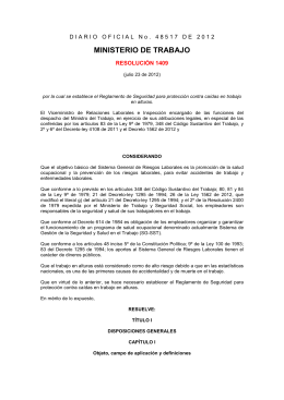 Resolución 1409 de 2012