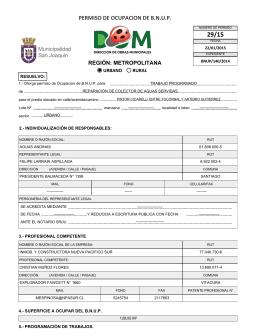 PERMISO DE OCUPACION DE B.N.U.P.