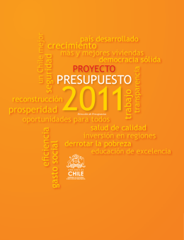 Folleto Presupuesto 2011