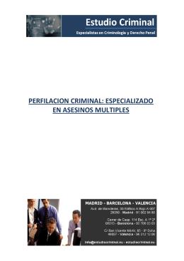 perfilacion criminal: especializado en asesinos