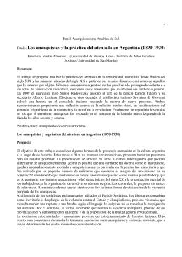 Los anarquistas y la práctica del atentado en Argentina
