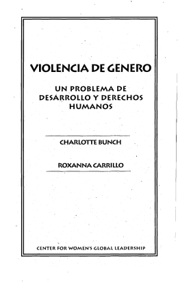 VIOLENCIA DE GENERO - Center for Women`s Global Leadership