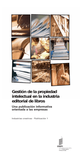 Gestión de la propiedad intelectual en la industria editorial